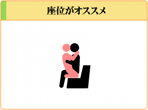 刺激の弱い体位(座位)ですることで、射精までの時間を伸ばすことができる