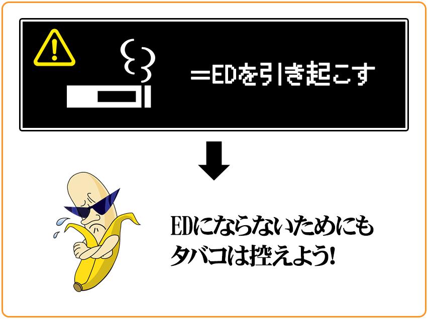 タバコはEDを引き起こす原因になるので、少しずつで良いので量を減らしていこう。