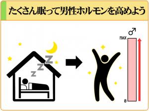 充分な睡眠をとることで男性ホルモンの分泌量が増え、性欲がアップする