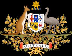 カンガルーとエミューが描かれたオーストラリアの国章