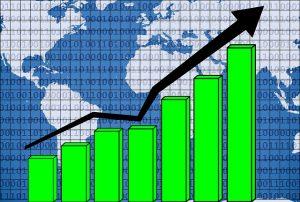 エミュー産業の拡大を示す、右上がりの棒グラフ