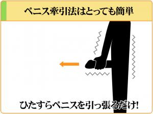 ペニス牽引法はただペニスを引っ張るだけなので、とっても簡単
