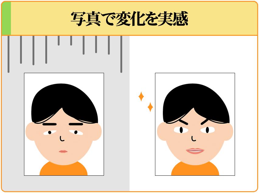 自分の顔写真を撮ることで、オナ禁の効果を客観的に確認することができる