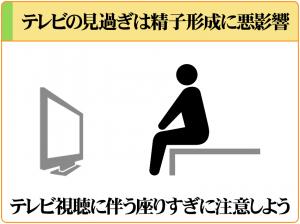 テレビ視聴に伴う長時間の着座は精子形成に悪影響を及ぼす