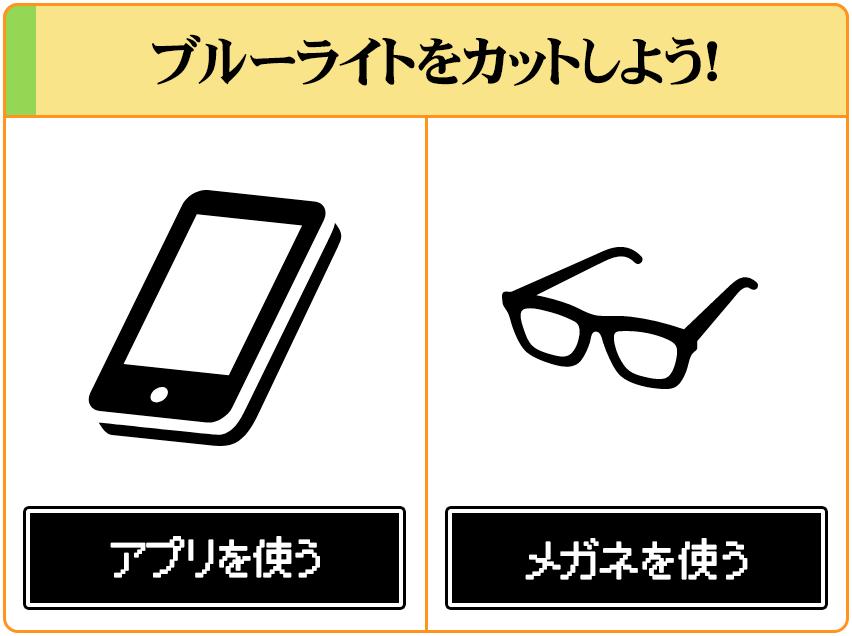 睡眠の質を下げてしまうブルーライトは、アプリとメガネでカットしよう!
