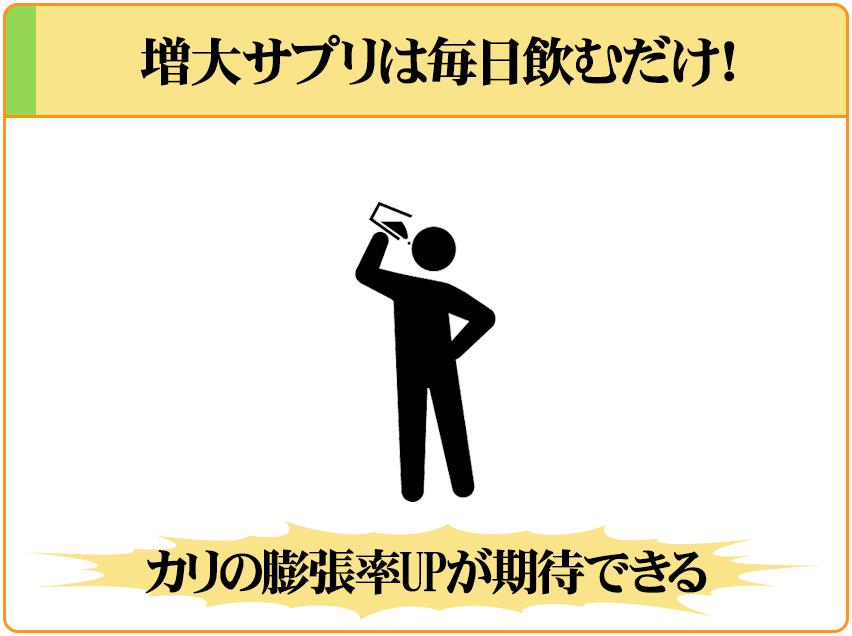 ペニス増大サプリを飲むだけで、簡単・安全にカリ高になれる。