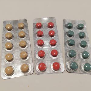 リザベリンの錠剤は3タイプで構成されている