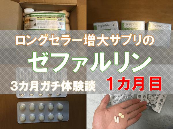 ゼファルリン(ペニス増大サプリ)は効果なし!?3ヵ月体験談で検証!1ヵ月目。