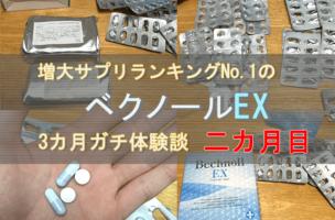 ベクノールEX(ペニス増大サプリ)は効果なし!?3ヵ月体験談で検証!二ヵ月目。